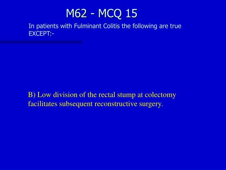 M62 - MCQ 15