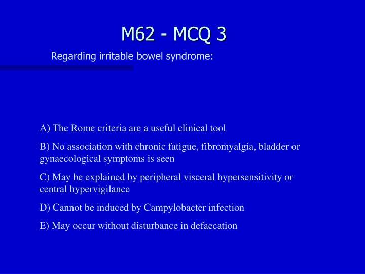 M62 - MCQ 3