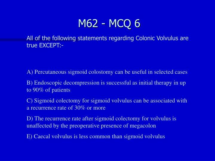 M62 - MCQ 6