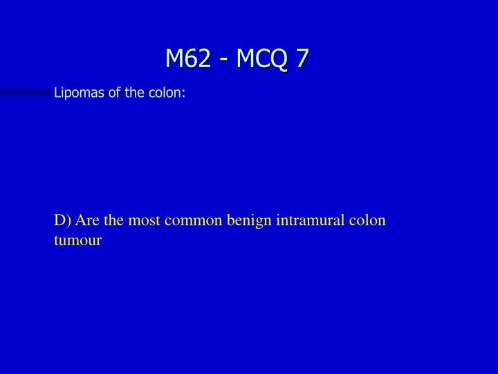 M62 - MCQ 7