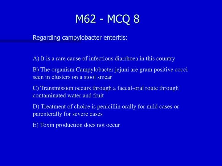 M62 - MCQ 8