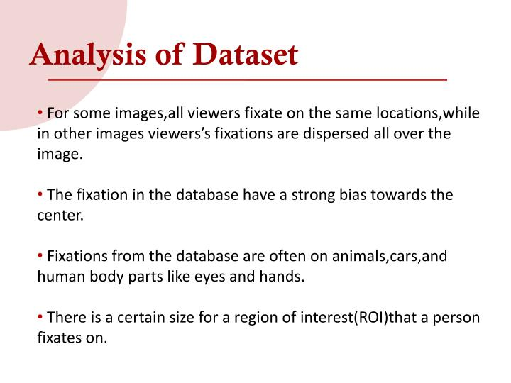 Analysis of Dataset