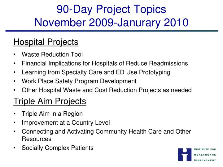 90-Day Project Topics