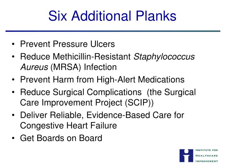 Six Additional Planks