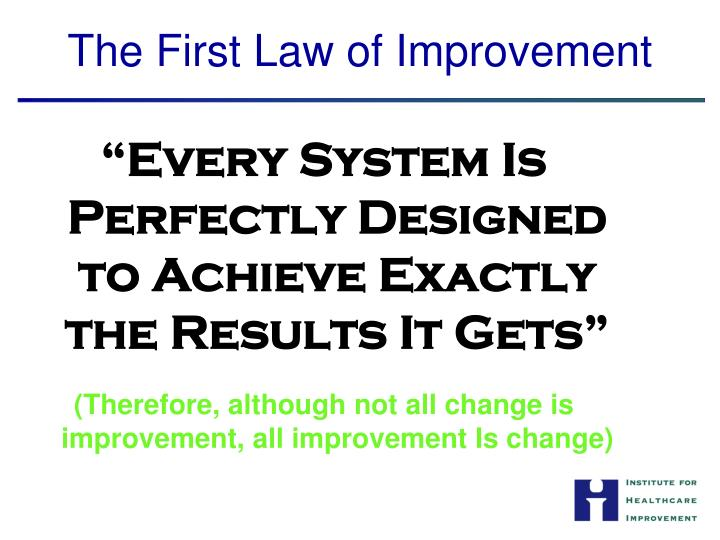 """Every System Is Perfectly Designed to Achieve Exactly the Results It Gets"""