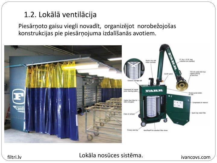 1.2. Lokālā ventilācija
