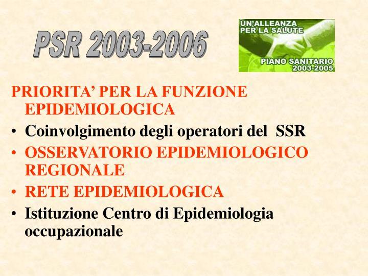 PSR 2003-2006