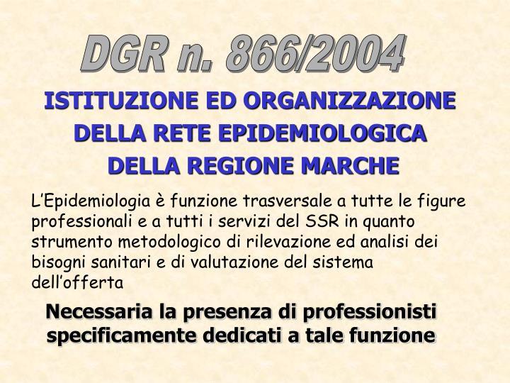 DGR n. 866/2004