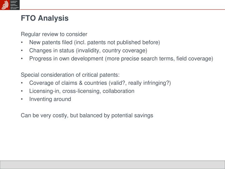 FTO Analysis