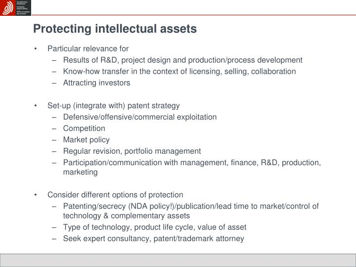 Protecting intellectual assets