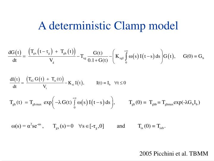 A deterministic Clamp model