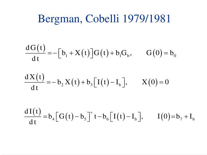 Bergman, Cobelli 1979/1981