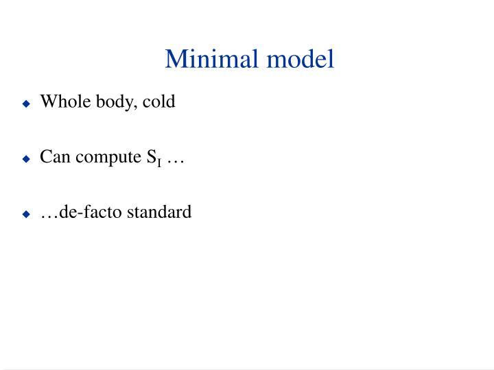 Minimal model