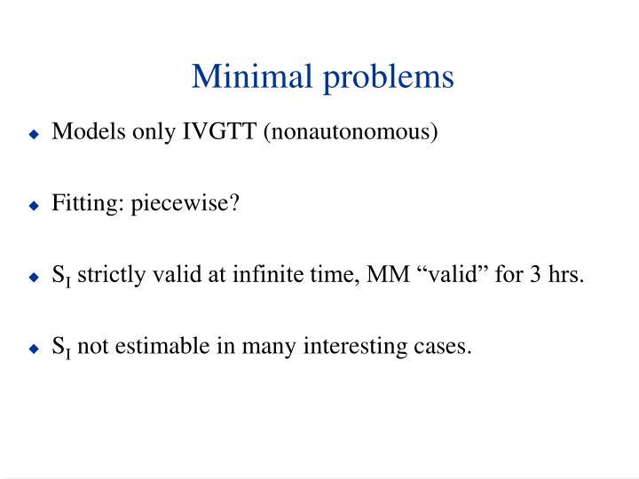 Minimal problems