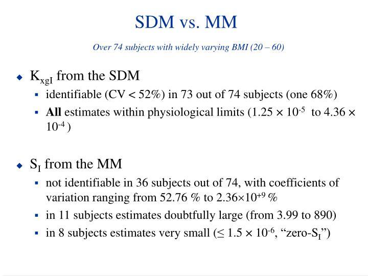 SDM vs. MM