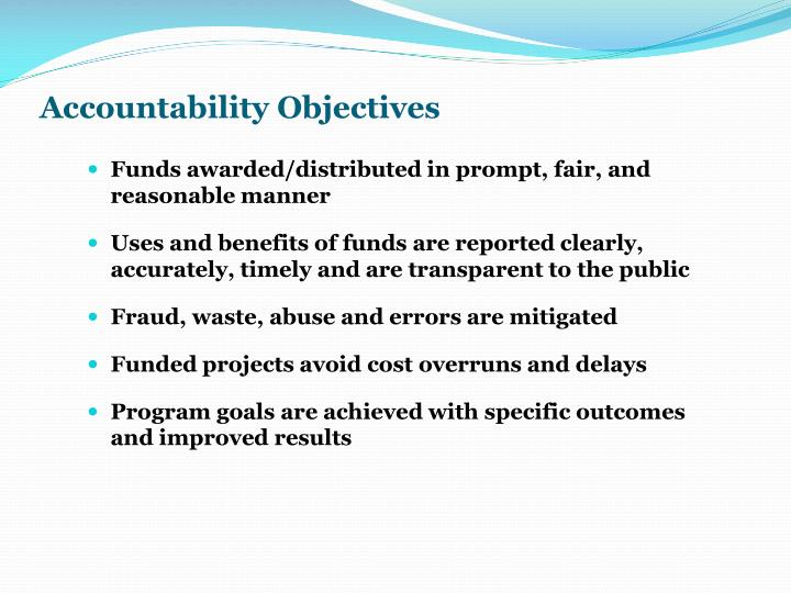 Accountability Objectives