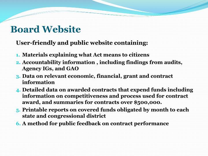 Board Website