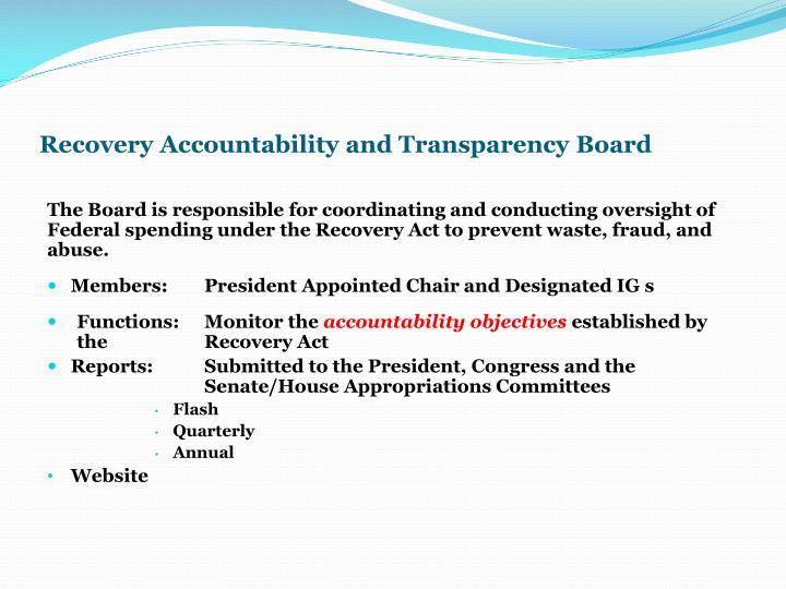 Recovery Accountability and Transparency Board