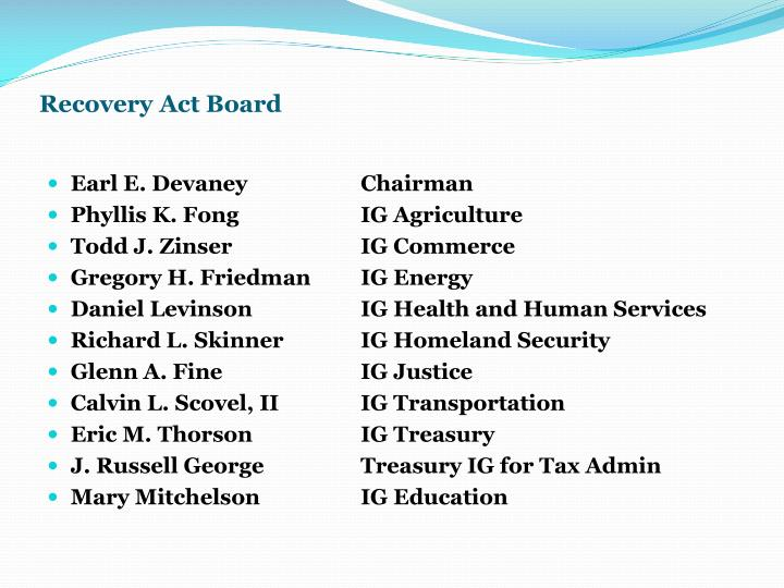 Recovery Act Board