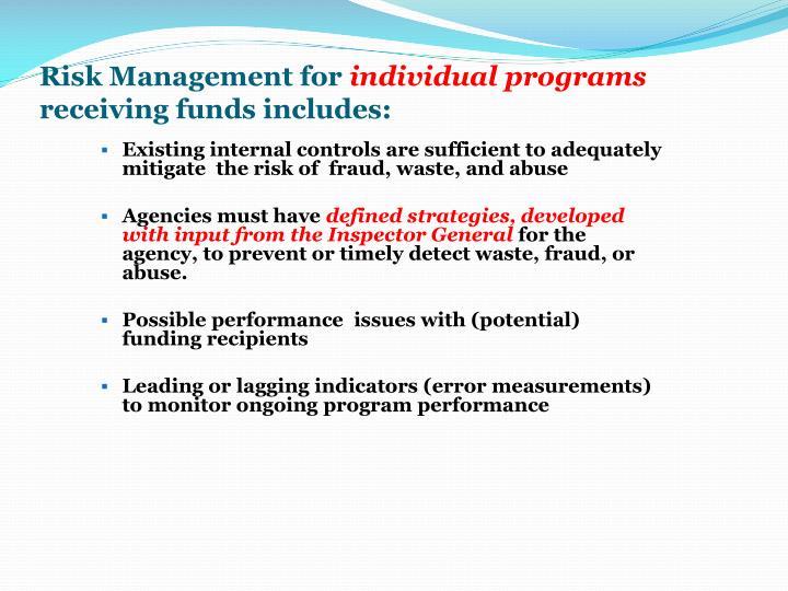 Risk Management for
