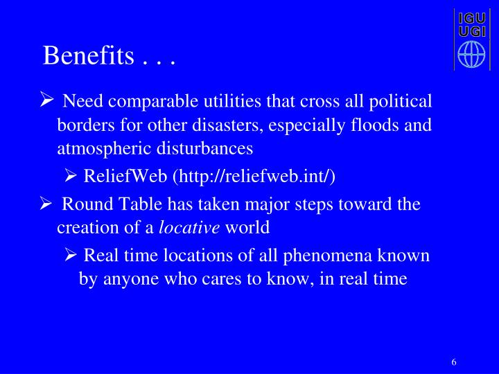 Benefits . . .
