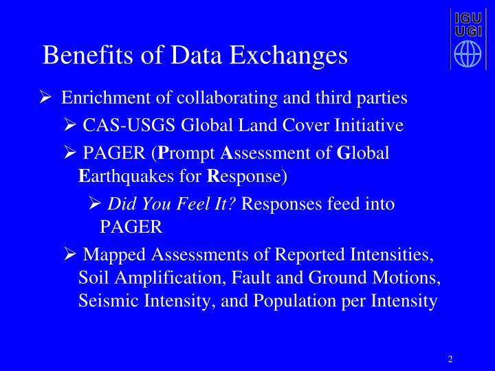 Benefits of Data Exchanges