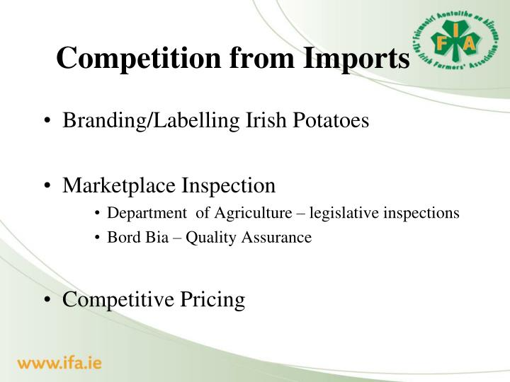 Competition from Imports