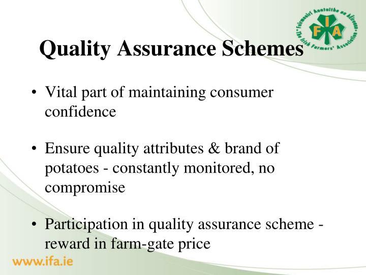 Quality Assurance Schemes