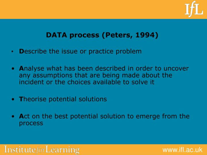 DATA process (Peters, 1994)