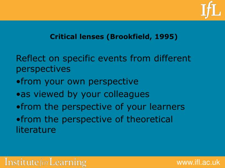 Critical lenses (Brookfield, 1995)