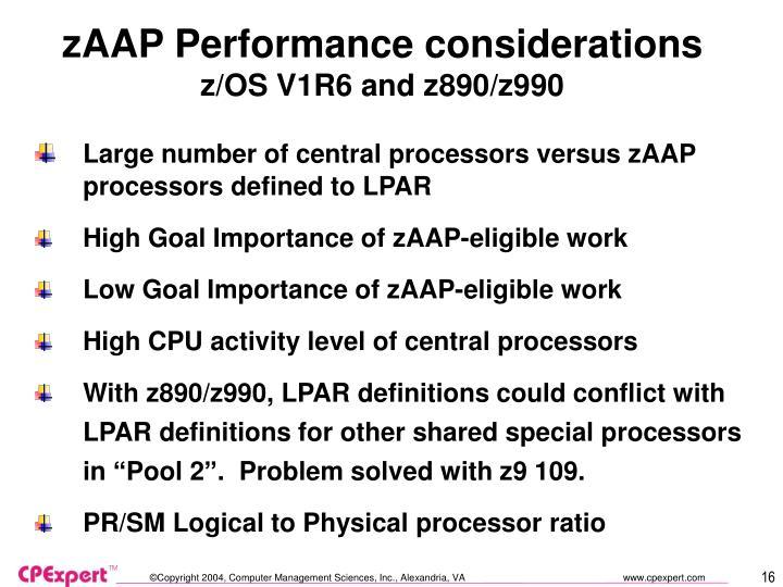 zAAP Performance considerations