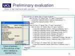 preliminary evaluation6