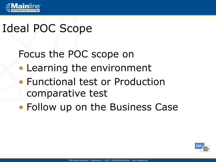 Ideal POC Scope