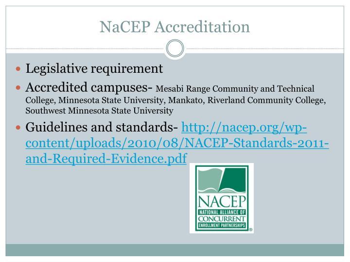 NaCEP Accreditation
