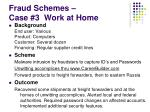 fraud schemes case 3 work at home