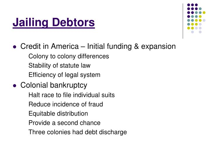 Jailing Debtors