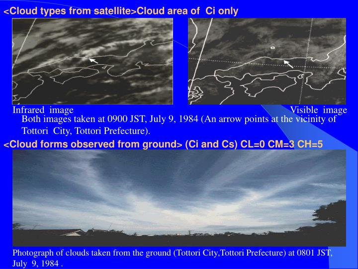 <Cloud types from satellite>Cloud area of  Ci only
