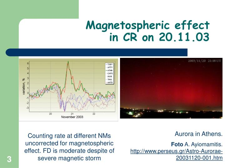 Magnetospheric effect