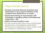 way forward cont d1