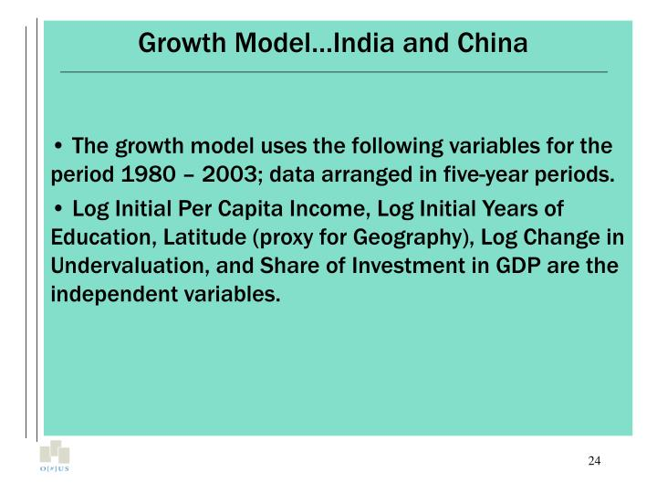 Growth Model…India and China