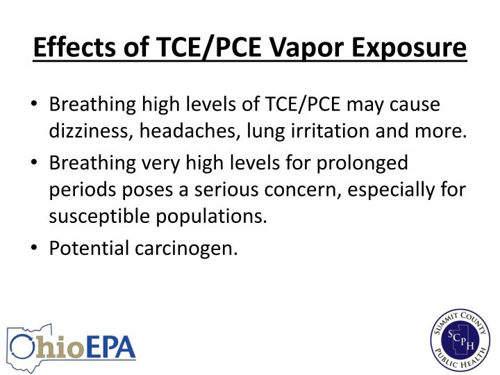 Effects of TCE/PCE Vapor Exposure