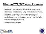 effects of tce pce vapor exposure