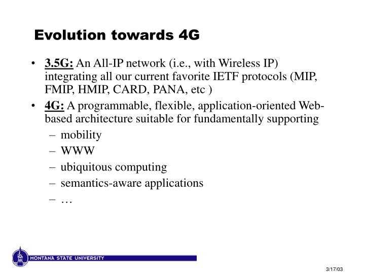 Evolution towards 4G