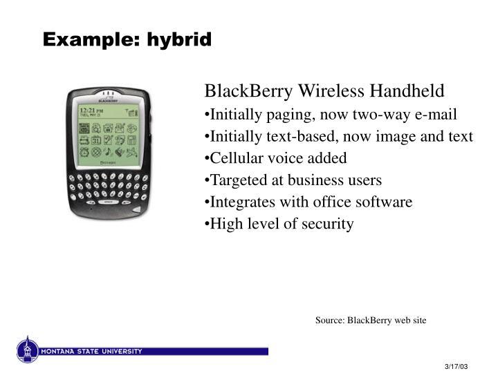 Example: hybrid