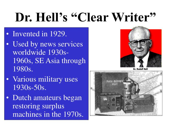 """Dr. Hell's """"Clear Writer"""""""