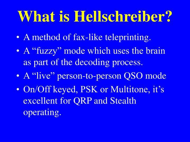 What is Hellschreiber?