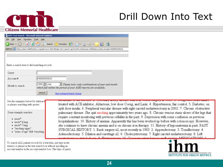 Drill Down Into Text