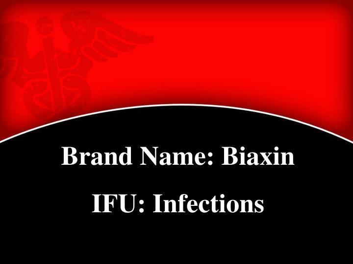 Brand Name: Biaxin