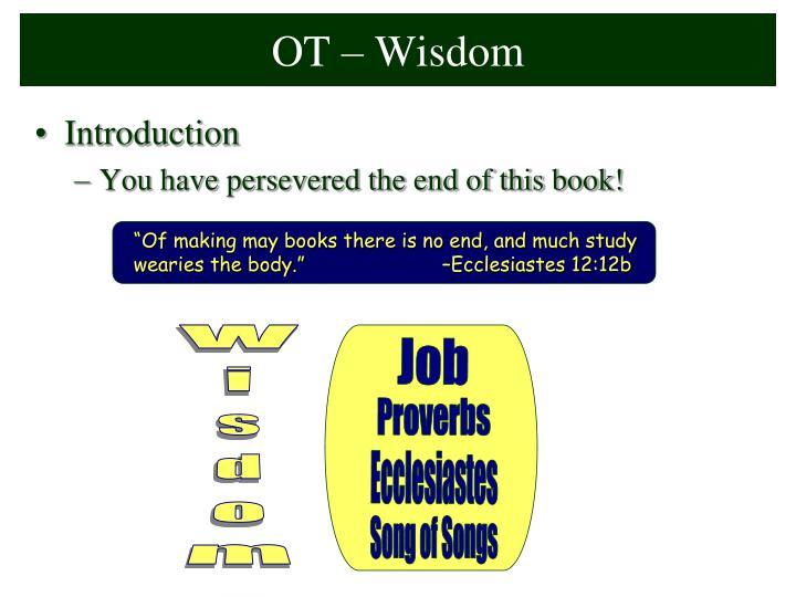 OT – Wisdom
