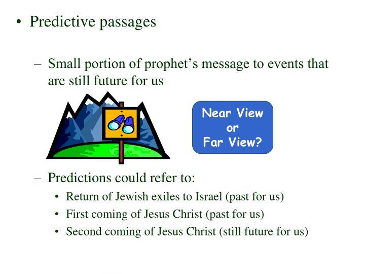 Predictive passages